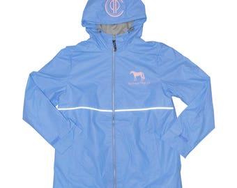 PPC Light Reflective Monogrammed Rain Coat