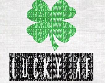 Four Leaf Clover Svg Cut File - Lucky Svg Cut File - St. Patricks Day Svg Cut File - St. Paddys Day Svg Cut File - Adult Svg Cut File