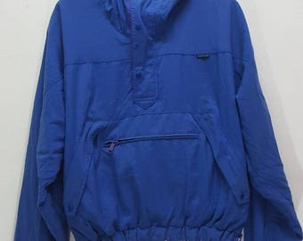 Vintage Adidas halfzip windbreaker jacket ski hiking