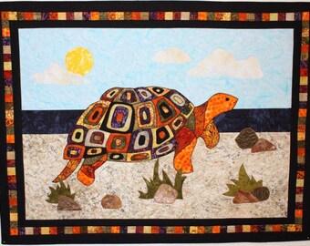 BJ Designs & Patterns Talulah Turtle Applique Quilt Pattern