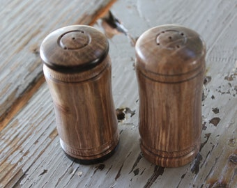 Wood Salt and Pepper Shakers-Walnut Wood Shakers-Lathe Turned Wood Shakers-Custom Walnut Wood Shakers