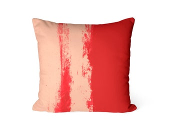 Throw Pillow Cover, Red Peach Pillow Cover, Red Peach Decor, Home Decor, Sofa pillow cover