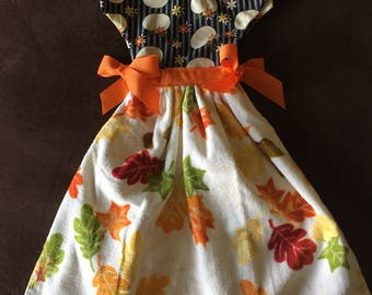 yellow pumpkin Oven Dish Towel Dress