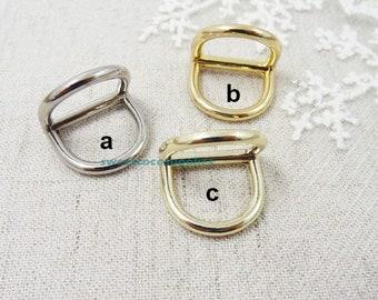 "0.7""(inner diameter)Heavy duty D-rings, conjoined D-rings, bag accessories.4 pcs"