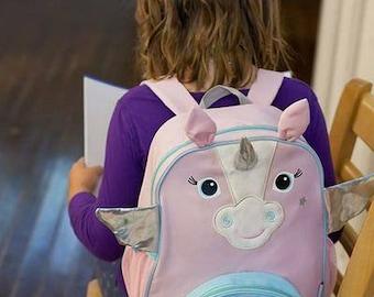 Monogrammed Backpack - Unicorn Backpack - Toddler Backpack - Back to School - Preschool Backpack - Girls Lunchbox - Kids Backpack