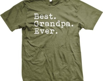 Best GRANDPA Ever! Happy Father's Day T-Shirt - GH_01286