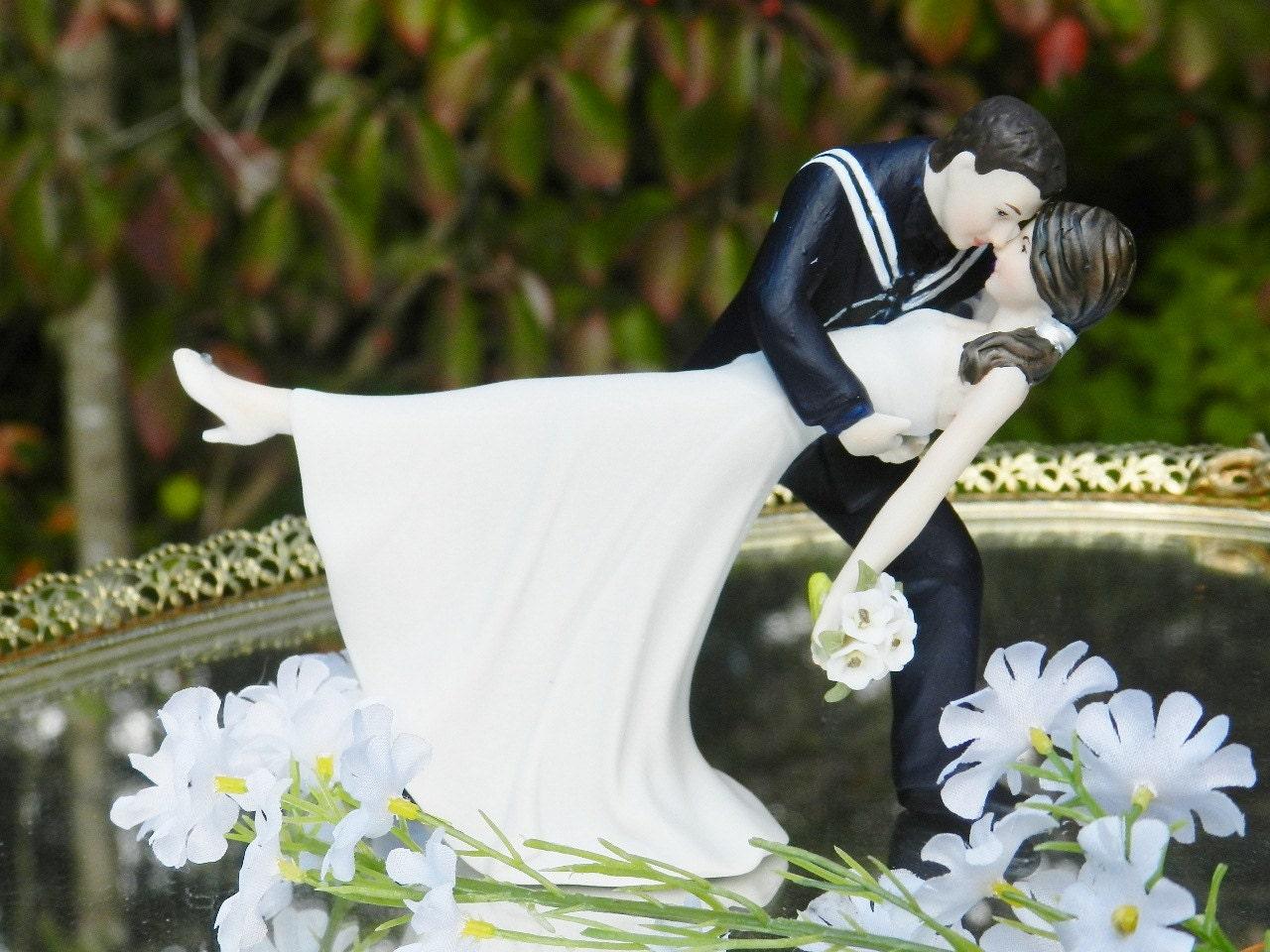 USN military bride Navy Sailor groom uniform dance dip Wedding