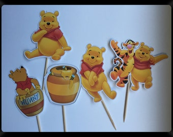 Winnie The Pooh cupcake toppers (picks).
