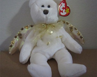 Decorated & Dyed Golden Halo Angel Beanie Baby