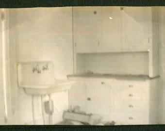 Vintage Snapshot Photo of Mysterious Kitchen 1910's, Original Found Photo, Vernacular Photography
