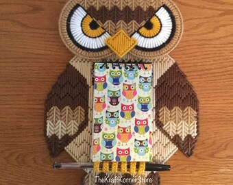 Owl Shopping List/ Notepad/ Reminder, magnetic, ready to ship