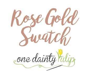 Rose Gold Fabric Swatch