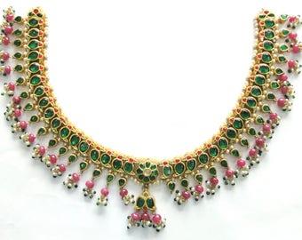 Vintage antique Solid 20k Gold jewelry Gemstones Necklace Pendant