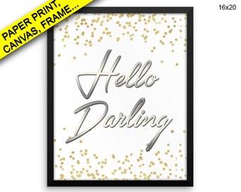 Hello Darling Wall Art Framed Hello Darling Canvas Print Hello Darling Framed Wall Art Hello Darling Poster Hello Darling hello darling