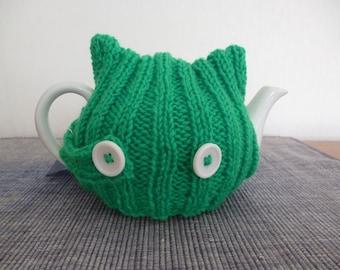Knit Tea Cozy, 2 Cup Teapot Cozy, Teapot Cozy, Teapot Warmer, Knit teapot cozy