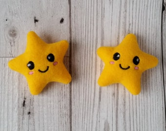 Star Plush Kawaii Hair Clips