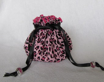 Drawstring Jewelry Pouch - Medium Size - Jewelry Bag - Tote - CAT TRASTROPHE