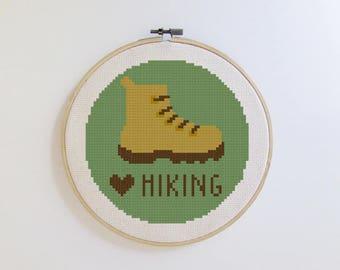 Hiking cross stitch pattern - Keep it Simple - PDF - Instant download