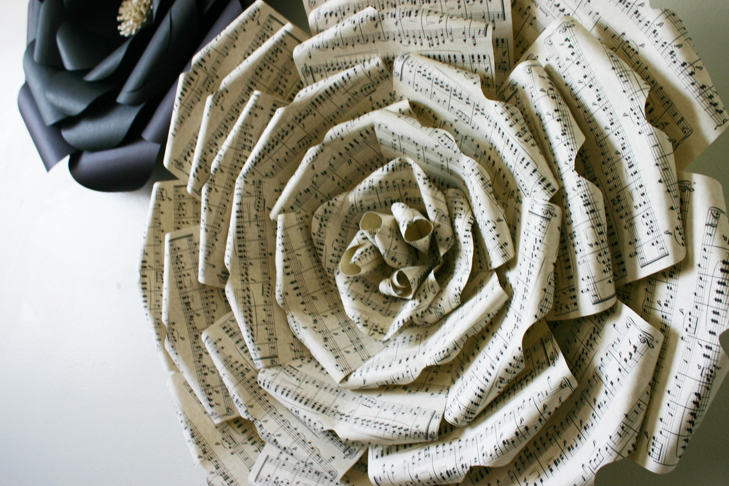 Sheet Music Paper Flower Big Paper Flower With Music Notes Large