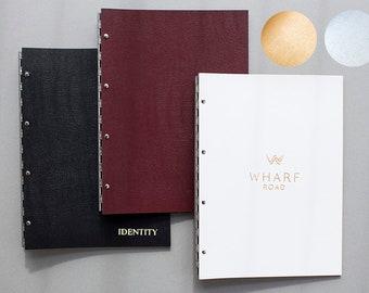 A4 Leather Custom Hinge Portfolio Album