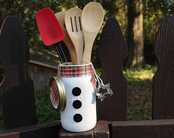 Snowman Kitchen Utensil Set