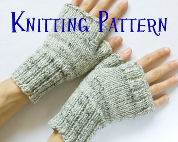 Instant Download Pdf Knitting Pattern Fingerless Mittens