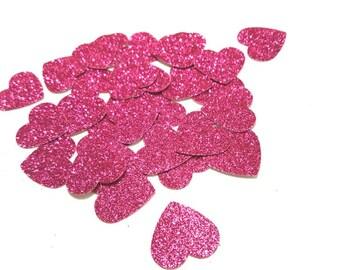 Glitter heart die cuts