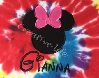 Tie Dyed Mnnie Disney Shirt - Youth, Disney Family shirts
