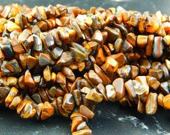 Oeil de Tigre lot de 100 perles chips