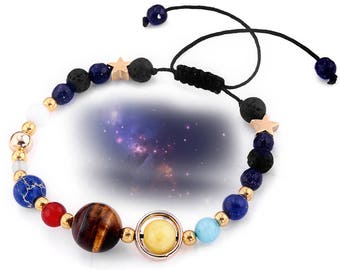 Galaxy Aromatherapy Essential Oil Diffuser Bracelet lava bead