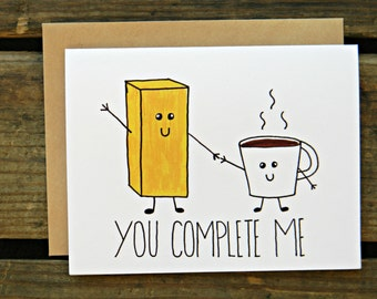 Butter & Coffee/Paleo/Crossfit/Bulletproof Diet/ Butter Coffee Anniversary/Valentines Day Card