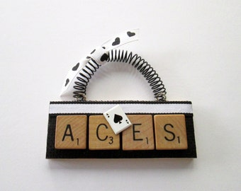 Aces Scrabble Tile Ornament