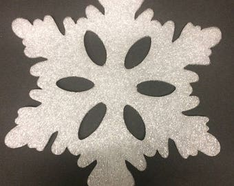 Snowflake Cut outs, foam snowflakes, holiday decorations, snowflake crafts, winter decorations, indoor and outdoor snowflake cut outs