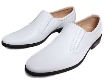 Leather Moscow boots white parade shoes