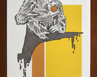 Juicy!, Masked Animalia Print