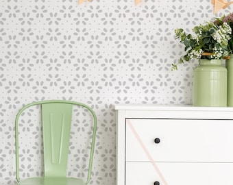 Spring wall stencil - Nursery stencil and Large wall stencil, Scandinavian stencil pattern for DIY projects - Wall stencils, Stencilit