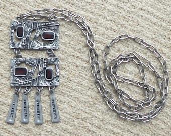 Dutch Vintage necklace with tin pendant