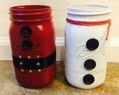 Snowman and Santa Mason J...