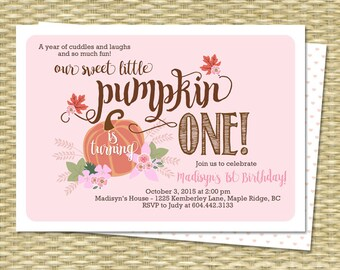 Pumpkin invitation first birthday our little pumpkin 1st our little pumpkin birthday invitation first birthday invitation pumpkin girl birthday invite 1st birthday invitations fall filmwisefo Image collections