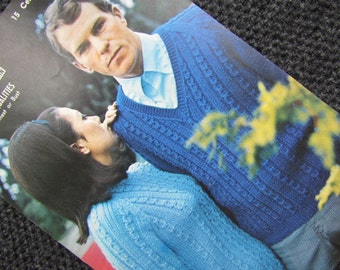 Cable Sweater Knitting Pattern - Retro Aotea Man's or Woman's Pullover