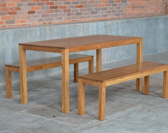 Edge Parsons Dining Set with Two Benches