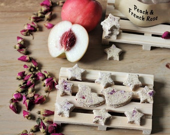 Peach & French Rose Homemade Rabbit Cookies