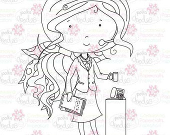 Receptionist/Telephone/Office Digital Stamp - by Nikky Hall