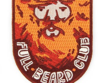 Full Beard Club Iron On Patch