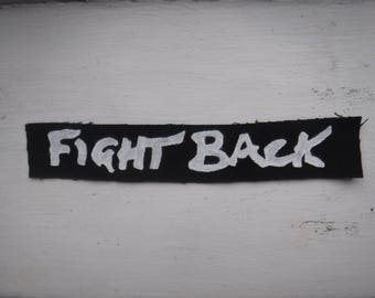 Fight Back Discharge DIY Punk Patch