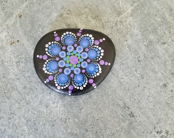 Hand-painted mandala rock set #37