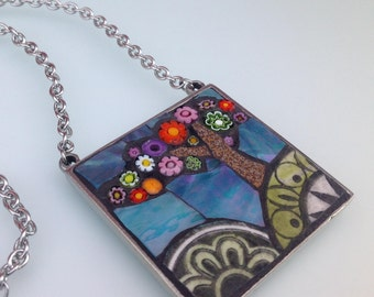 Picture Pendant Necklace - Blooming Tree
