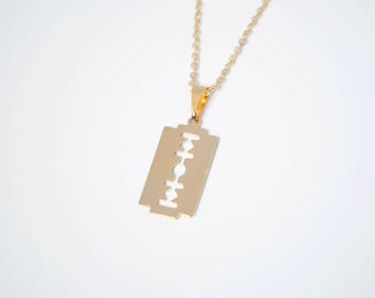 Gold Filled Square Blade Necklace