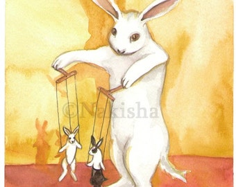 The Devil - The Rabbit Tarot Series- Limited Edition Fine Art Print