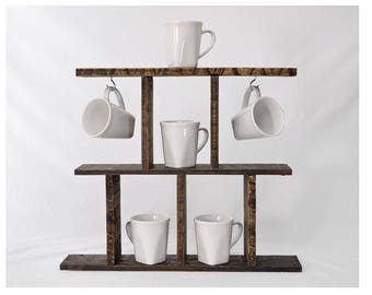 Rustic Coffee Mug Holder